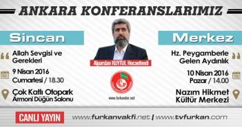 Ankara Sincan ve Merkez Konferanslarımıza Davet!